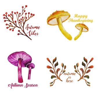 Kolekcja Logo Jesieni