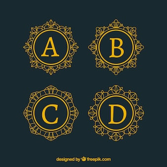 Kolekcja logo litery kapitana