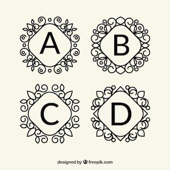Kolekcja logo litery