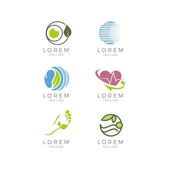 Kolekcja logo medycznych