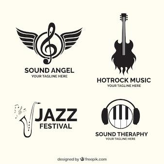 Kolekcja logo muzycznych