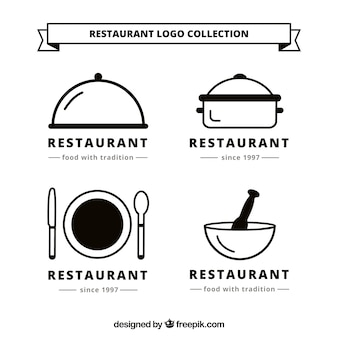 Kolekcja logo Resturant
