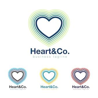 Kolekcja logo serca