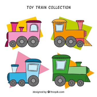 Kolekcja lokomotywa pociągu zabawek