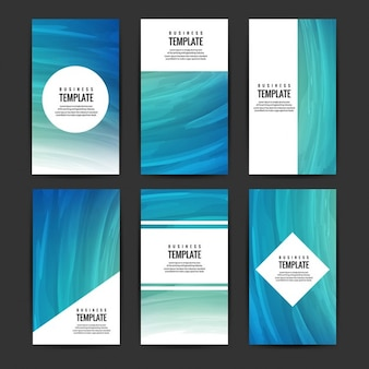 kolekcja niebieski broszury