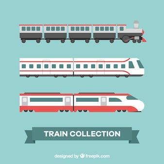 Kolekcja nowoczesnych pociągów