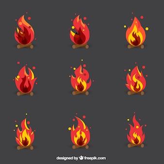 Kolekcja płomieni