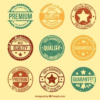 Kolekcja Premium rocznika etykiecie