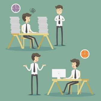 Kolekcja robocza charakteru biznesu