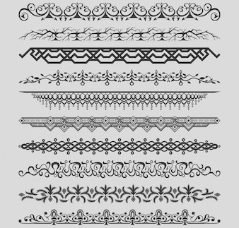 Kolekcja rocznika wektor zabytkowe ilustracji wektorowych