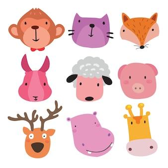 Kolekcja słodkich zwierząt