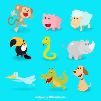 Kolekcja szczęśliwy zwierząt