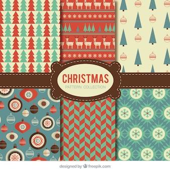 Kolekcja Vintage Christmas wzorców