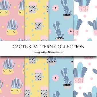 Kolekcja wzorów kaktusa