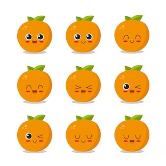 Kolekcja znaków pomarańczowych