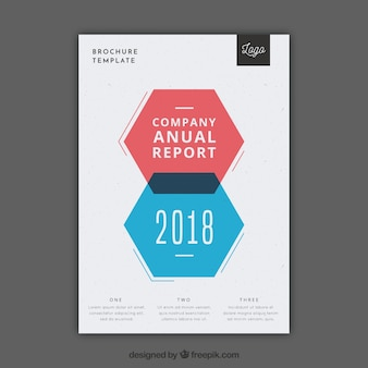 Kolorowa broszura o geometrycznych kształtach