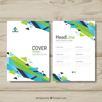 Kolorowa broszura z abstrakcyjnymi kształtami