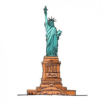 Kolorowa statua wolności