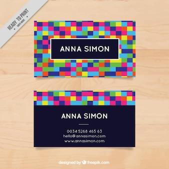 Kolorowe abstrakcyjne korporacyjnych kart