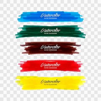 Kolorowe akwarele powitalny tle