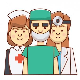 Kolorowe awatary medyczne
