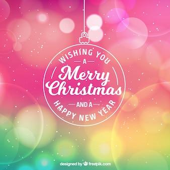 Kolorowe bokeh Boże Narodzenie w tle