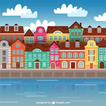 Kolorowe budynki miasta