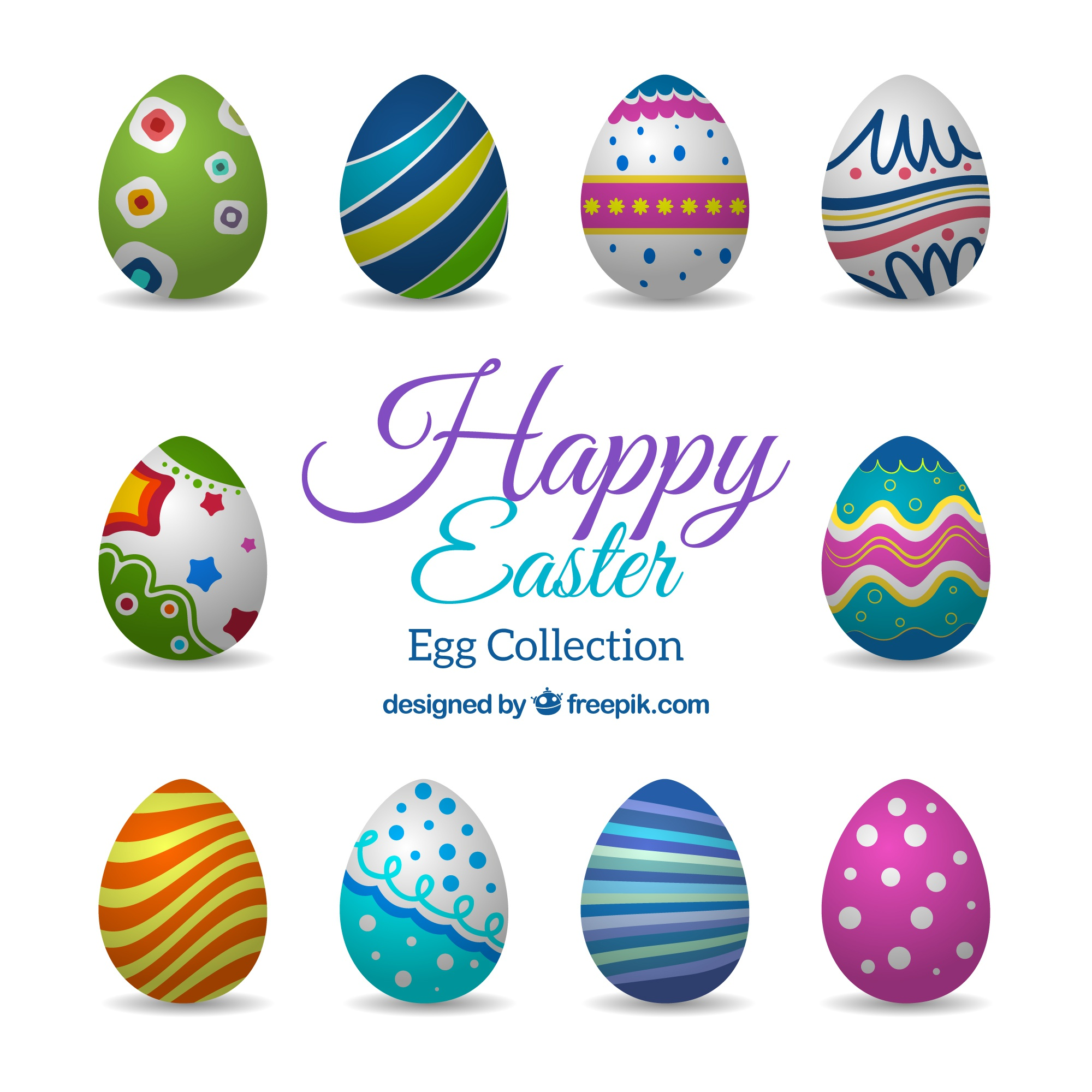 Kolorowe Easter Eggs Collection
