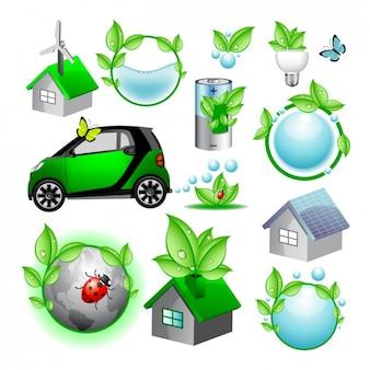 Kolorowe elementy ekologiczne