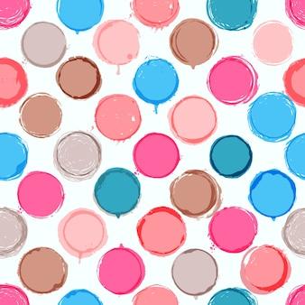 Kolorowe handdrawn kropki wzorek bez szwu