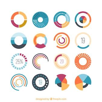 Kolorowe ikony ładowania