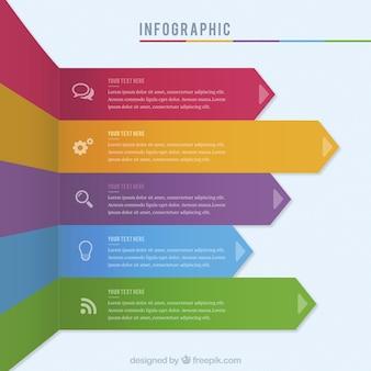 Kolorowe infografika