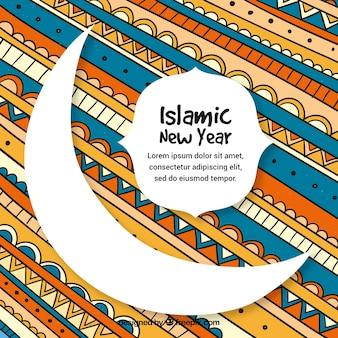 Kolorowe islamskie tło nowego roku