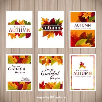 Kolorowe karty jesieni