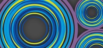 Kolorowe koła abstrakcyjne tło wektor