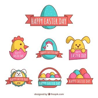 Kolorowe naklejki na dzień Wielkanocy