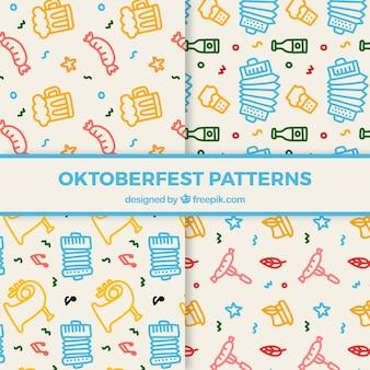 Kolorowe opakowanie wzorów z dodatkami oktoberfest