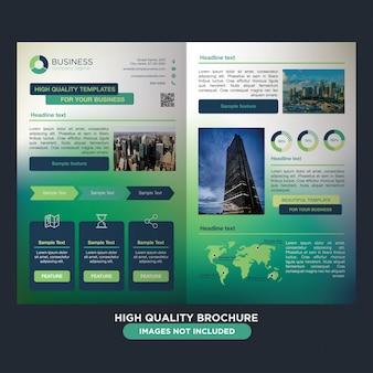 Kolorowe tętniącego życiem broszura dla biznesu