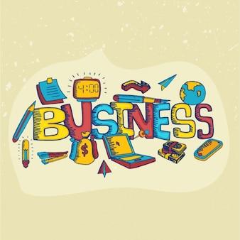 Kolorowe tło biznesowych z ręcznie rysowane elementy