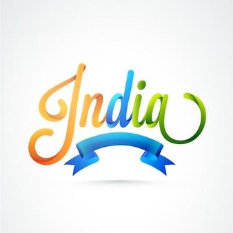 Kolorowe tło z niebieską wstążką na Dzień Republiki w Indiach