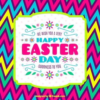 Kolorowe Wielkanoc kart z linii zygzaka