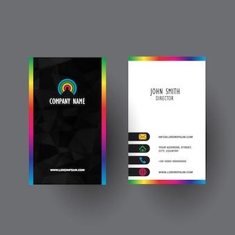 Kolorowe wizytówki projektu