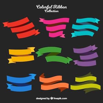 Kolorowe wstążki pakować