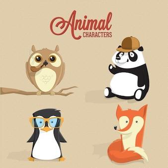 Kolorowe znaki zwierząt