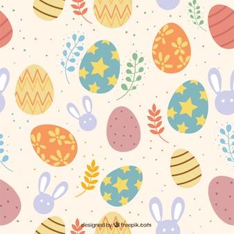 Kolorowy Dzień Wielkanocny Wzór