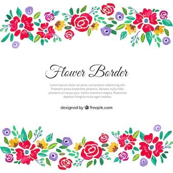 Kolorowy kwiatowy granicy