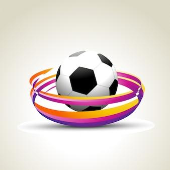 Kolorowy projekt piłki nożnej