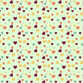 Kolorowy wzór serca