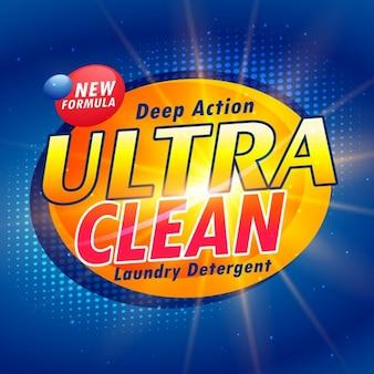 Koncepcja opakowania dla detergentów do prania