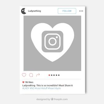 Koncepcja ramki Instagram